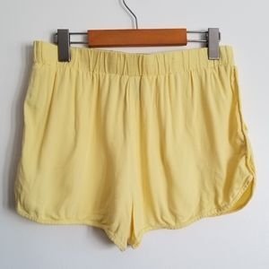 Forever 21 yellow retro style shorts